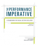 The Performance Imperative